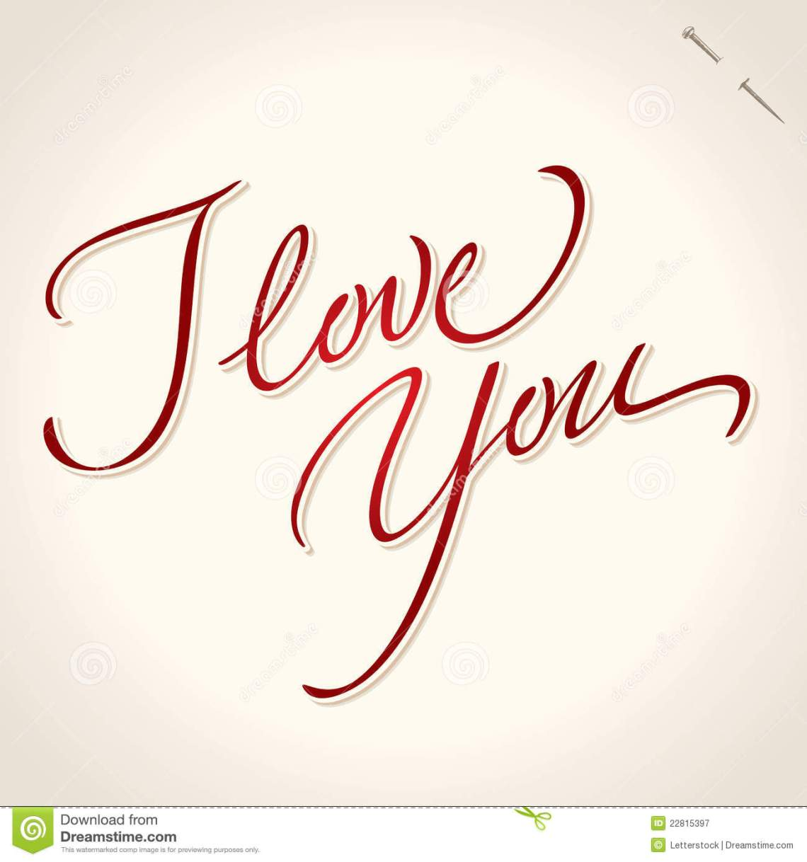 Download I Love You Hand Lettering (vector) Royalty Free Stock ...