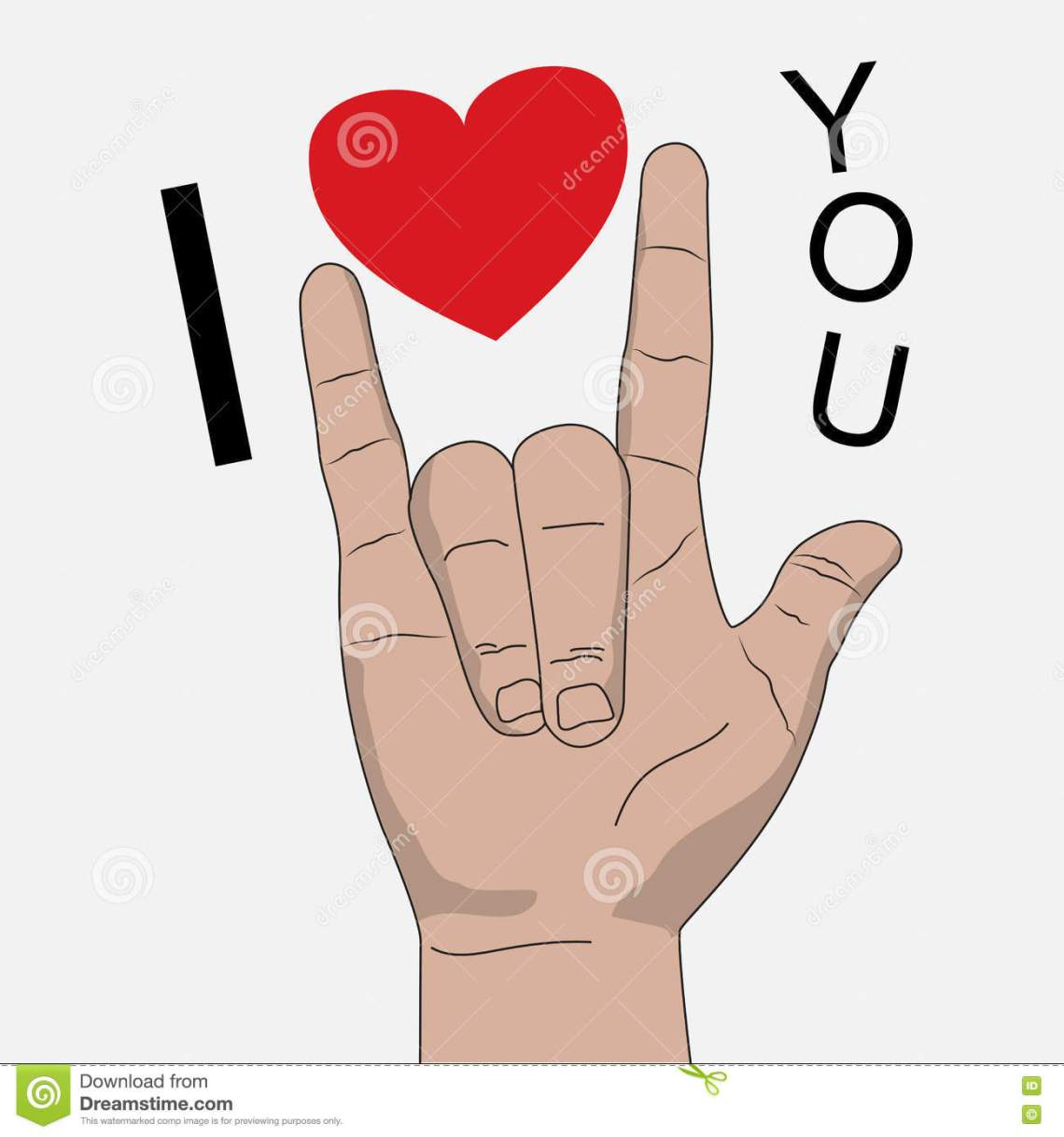 Download I Love You Hand Signal Vector Illustration Stock Vector ...