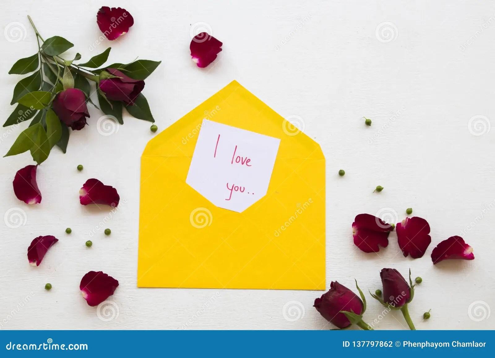 I Love You Message Card Handwriting Postcard Send To