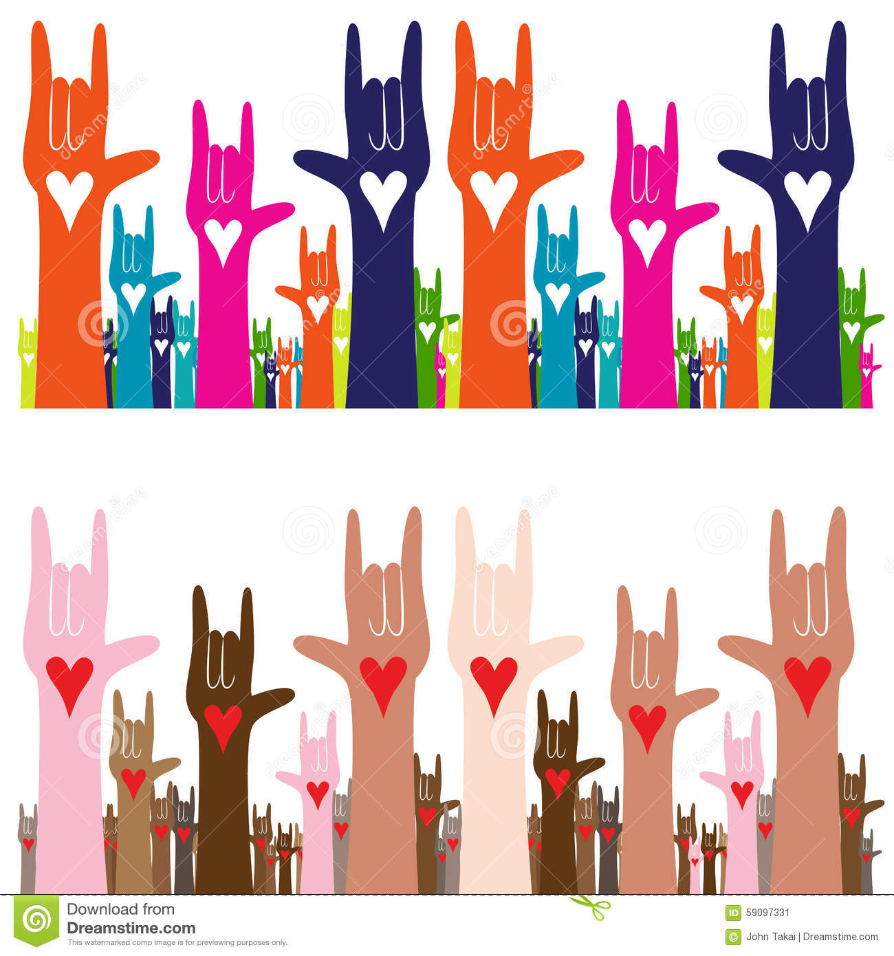I Love You Sign Language Stock Vector