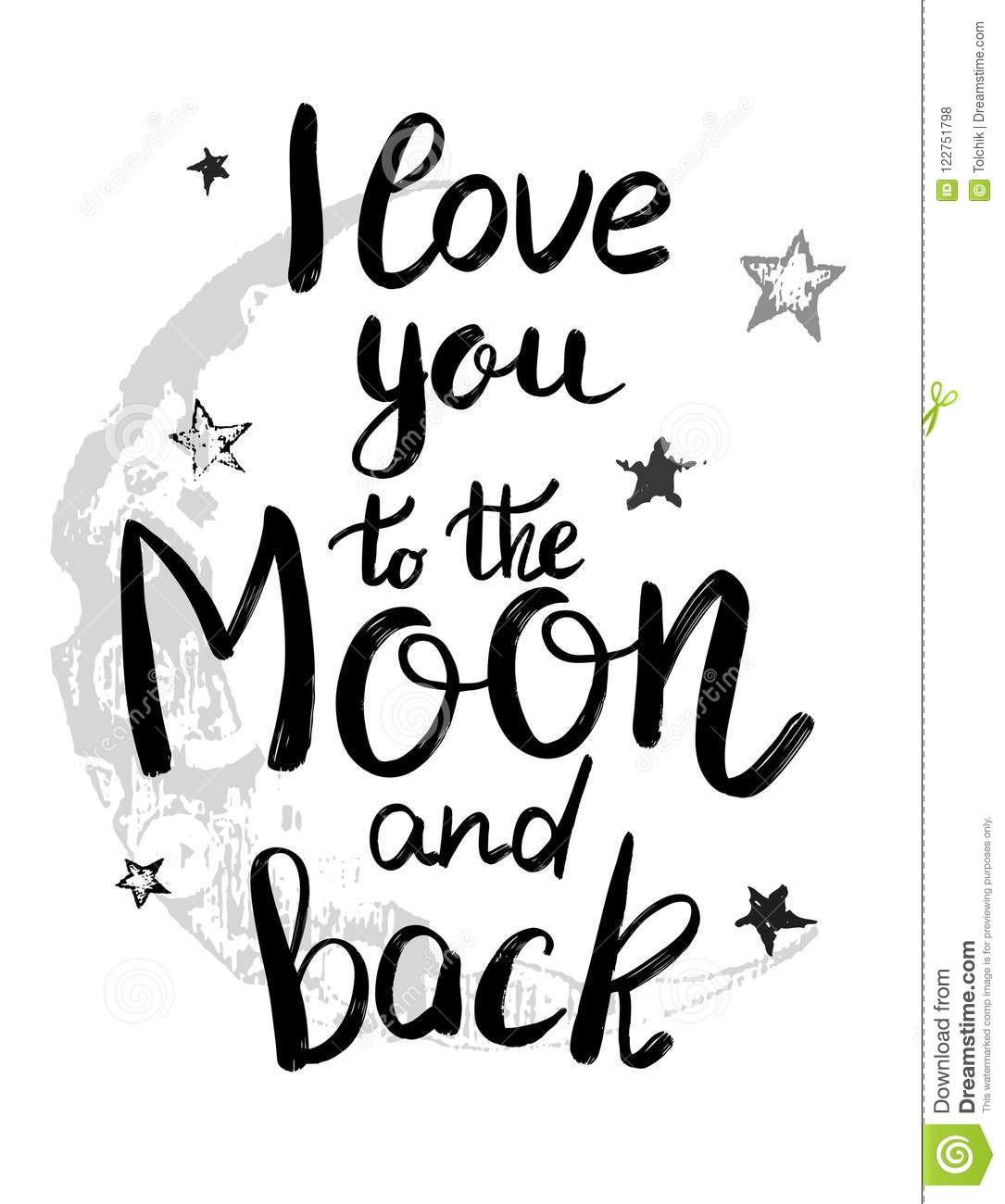 Download I Love You To The Moon And Back Template For Card Or ...