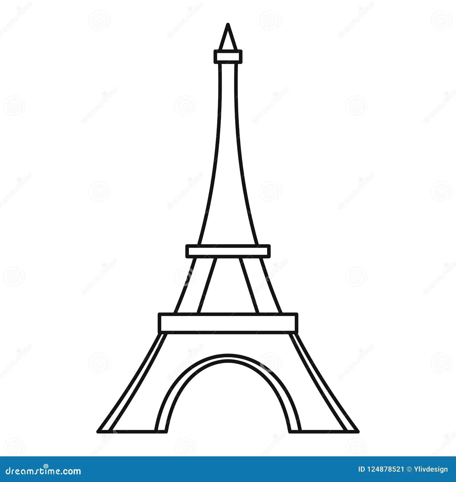 Icone De Tour Eiffel Style D Ensemble Illustration Stock