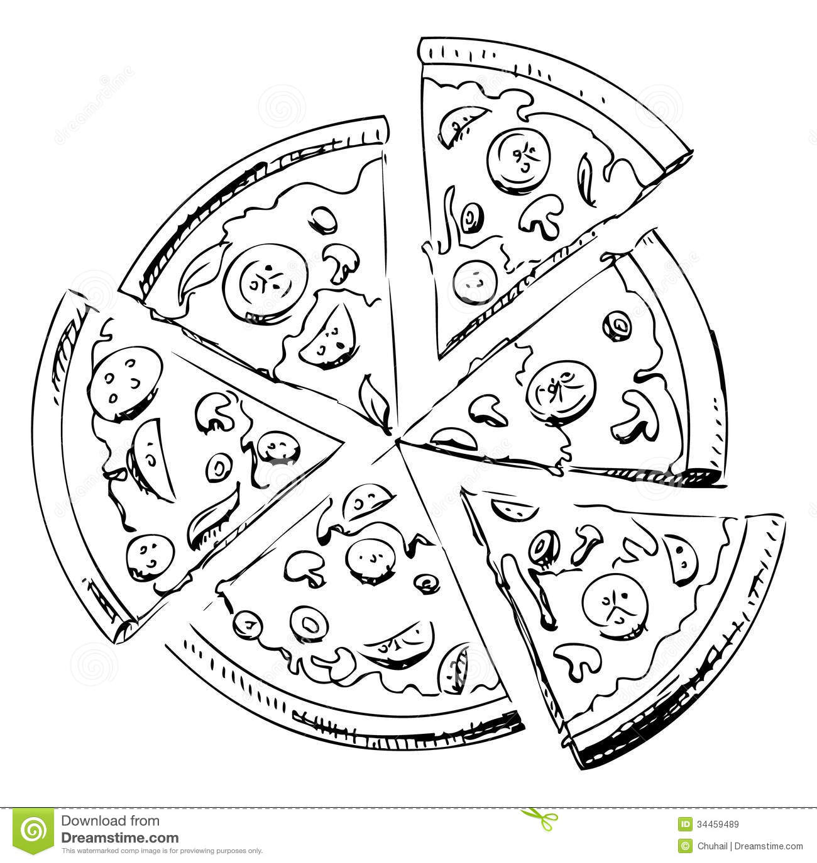Icone Decoupee En Tranches De Pizza Illustration De