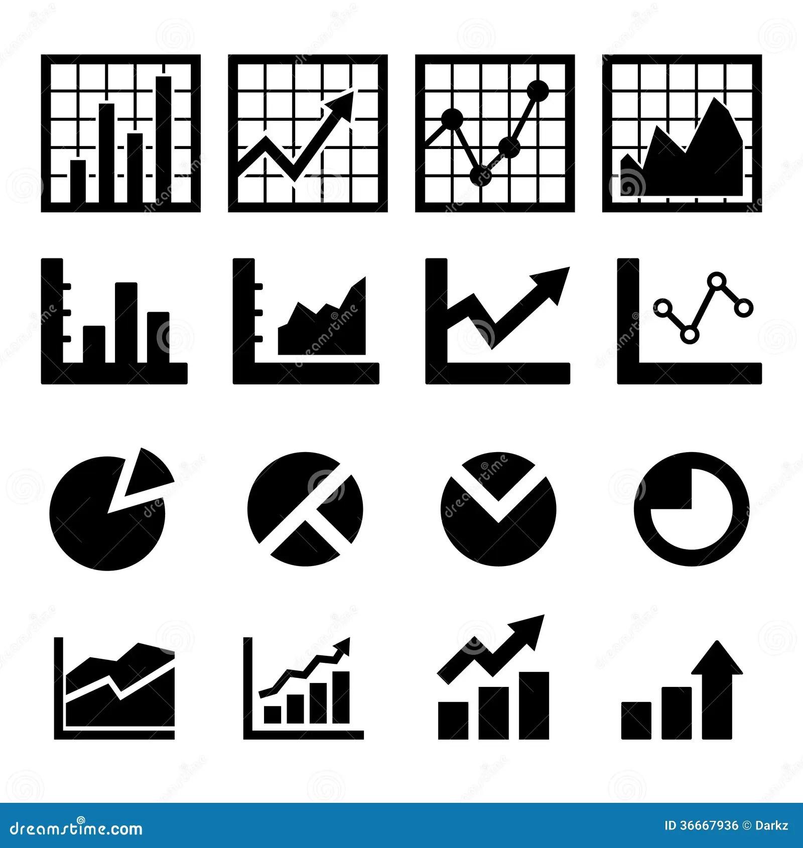 Icone De Diagramme Et De Diagramme Image Libre De Droits