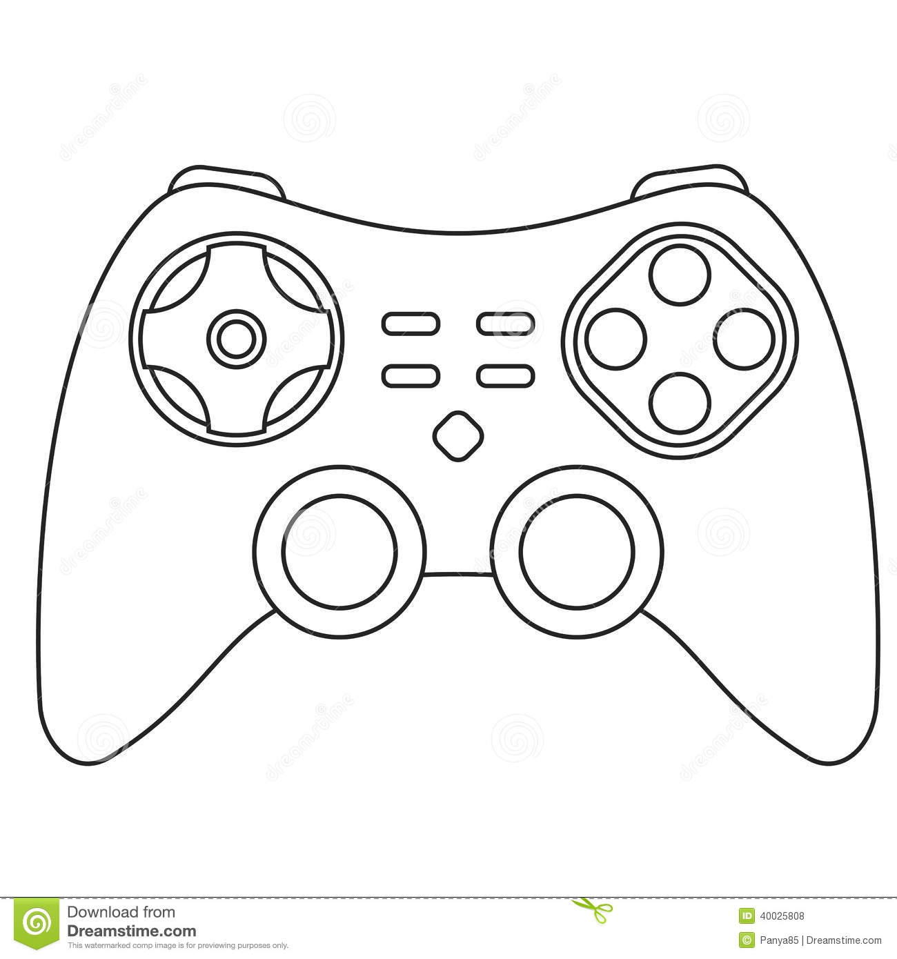 Icone De Manette Illustration De Vecteur