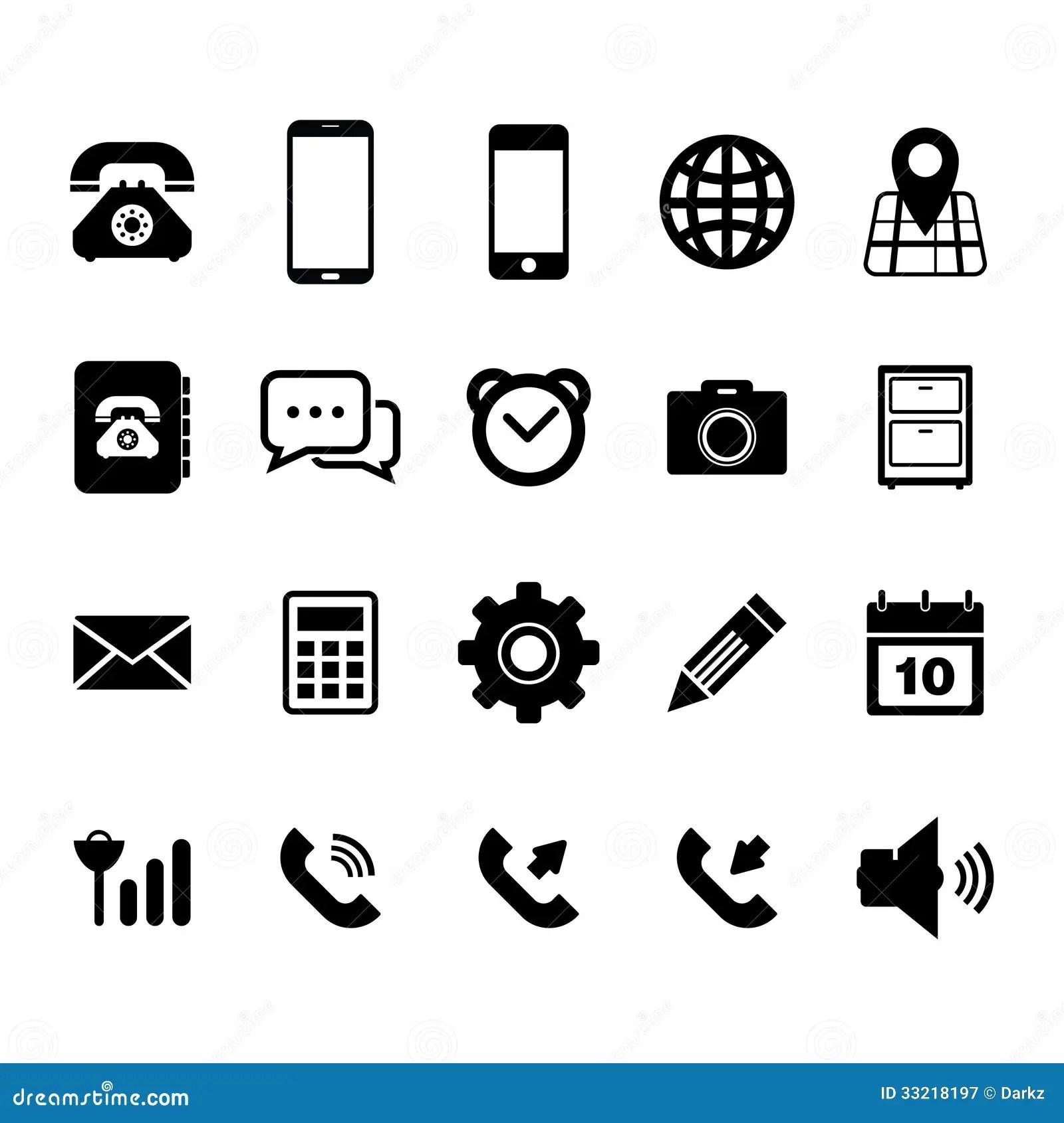 Icône De Téléphone Portable Photographie Stock Libre De