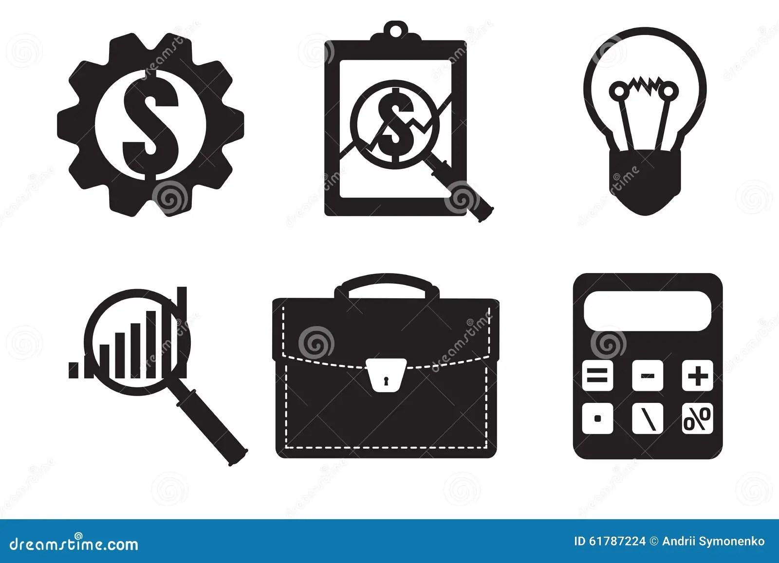 Icône Financière D'examinateur Icône économique De