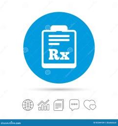 de rx de prescription symbole de pharmacie ou de m decine copiez les dossiers causez les ic nes de web de bulle de la parole et de diagramme vecteur [ 1300 x 1390 Pixel ]