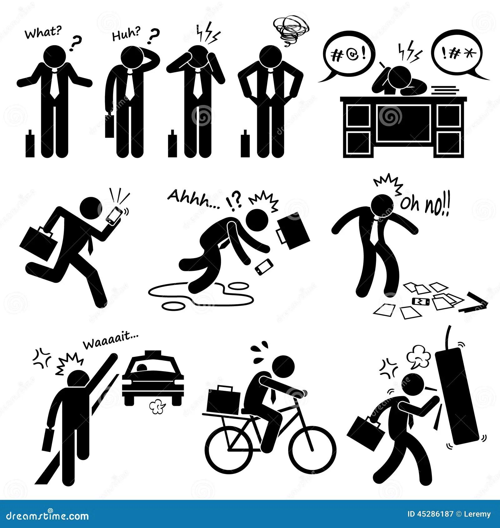 Icônes D'Emotion Feeling Action Cliparts D'homme D