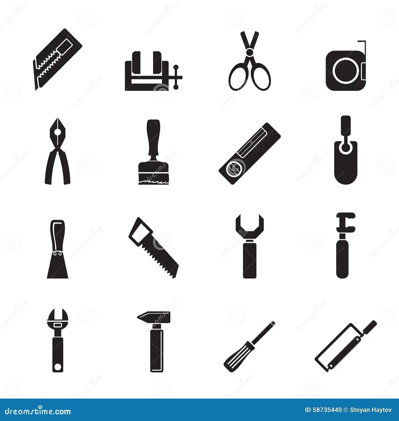 Icônes D'outils De Bâtiment Et De Construction De