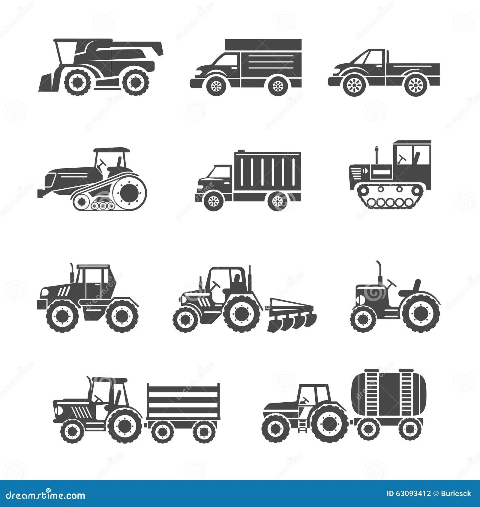 Icones De Machines Agricoles Illustration De Vecteur