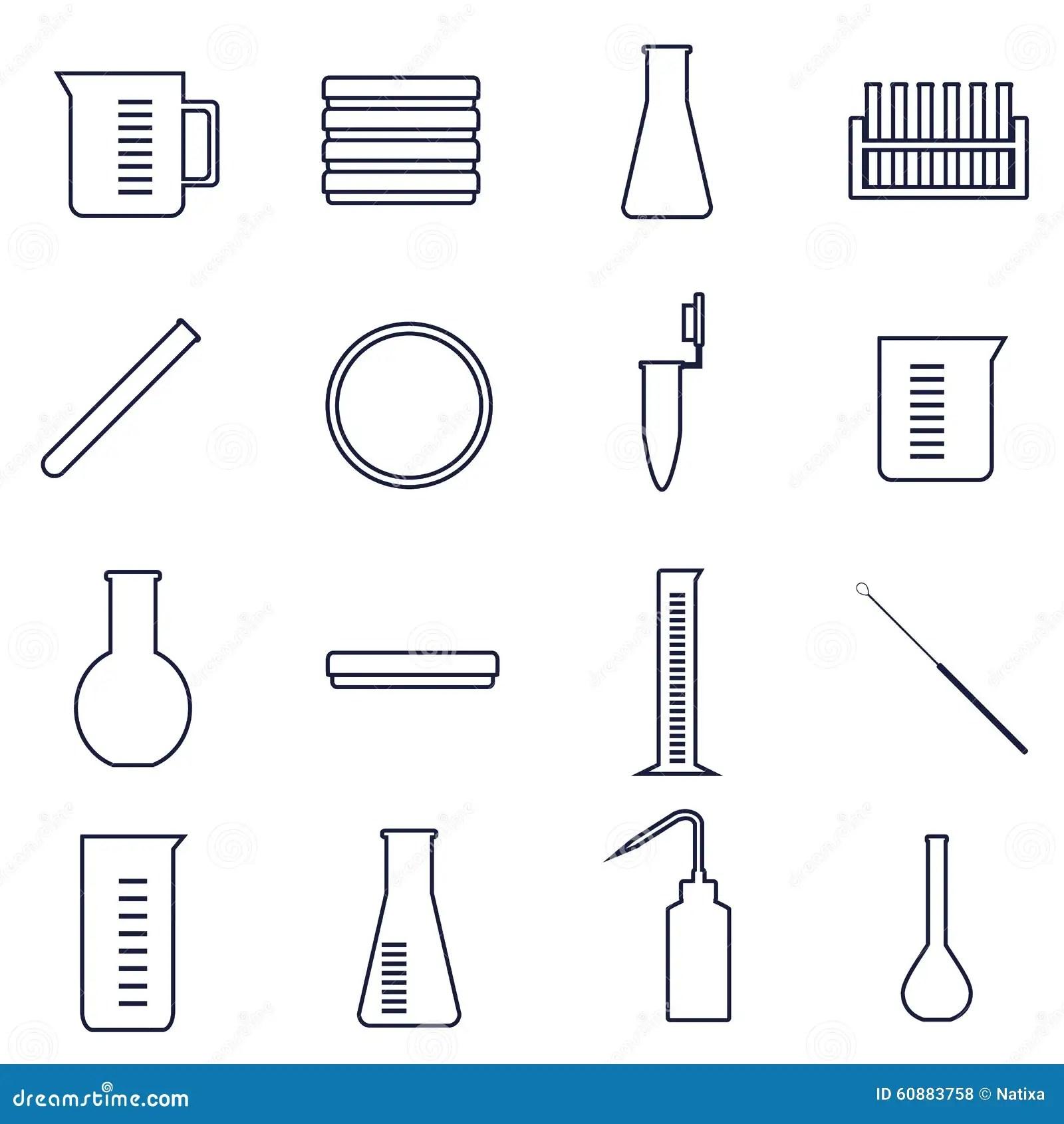 Icones De Microbiologie Illustration De Vecteur