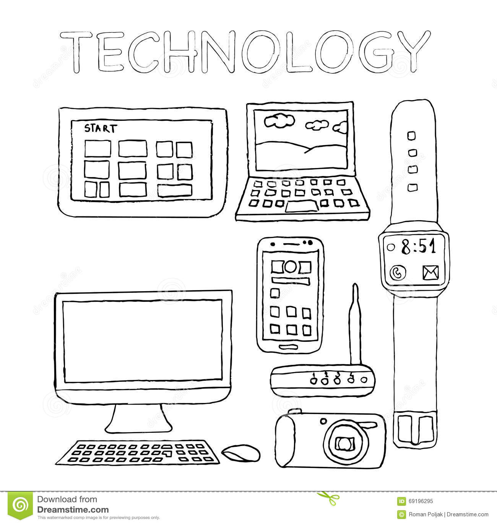 Coloriage Technologie
