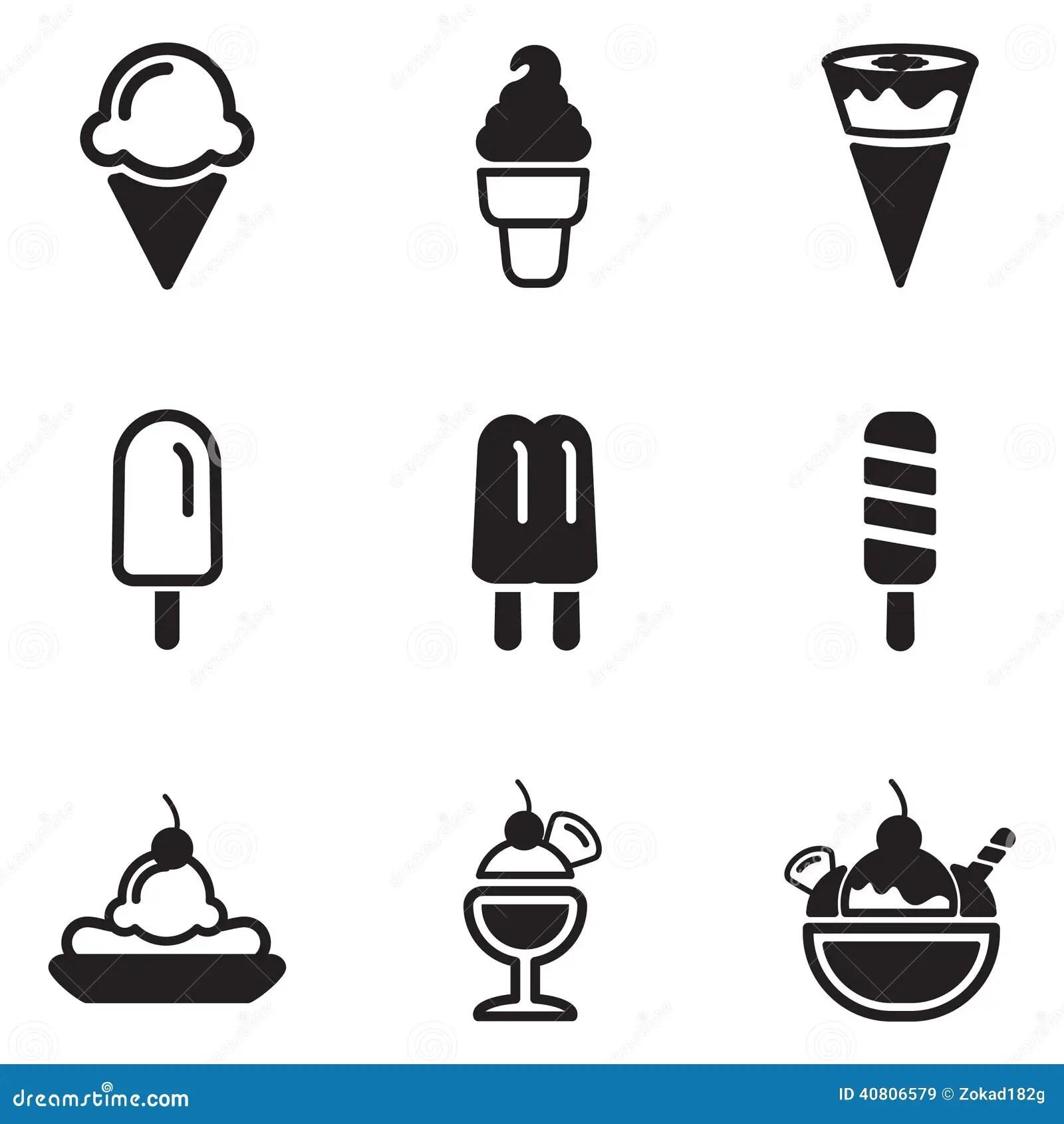Ice Cream Icons Stock Vector