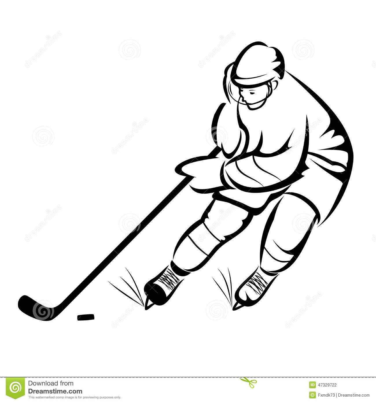Ice Hockey Player Stock Vector