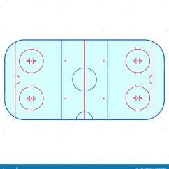 Nhl Hockey Rink Diagram Printable Consort Template Ice Creativehobby Store Vector Red Goal Net On White Cartoon Cartoondealer Com 53678345