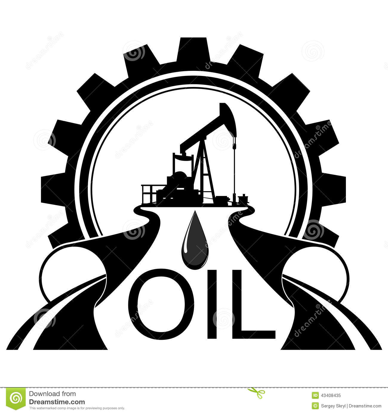 Icon Oil Industry Stock Vector Image 43408435