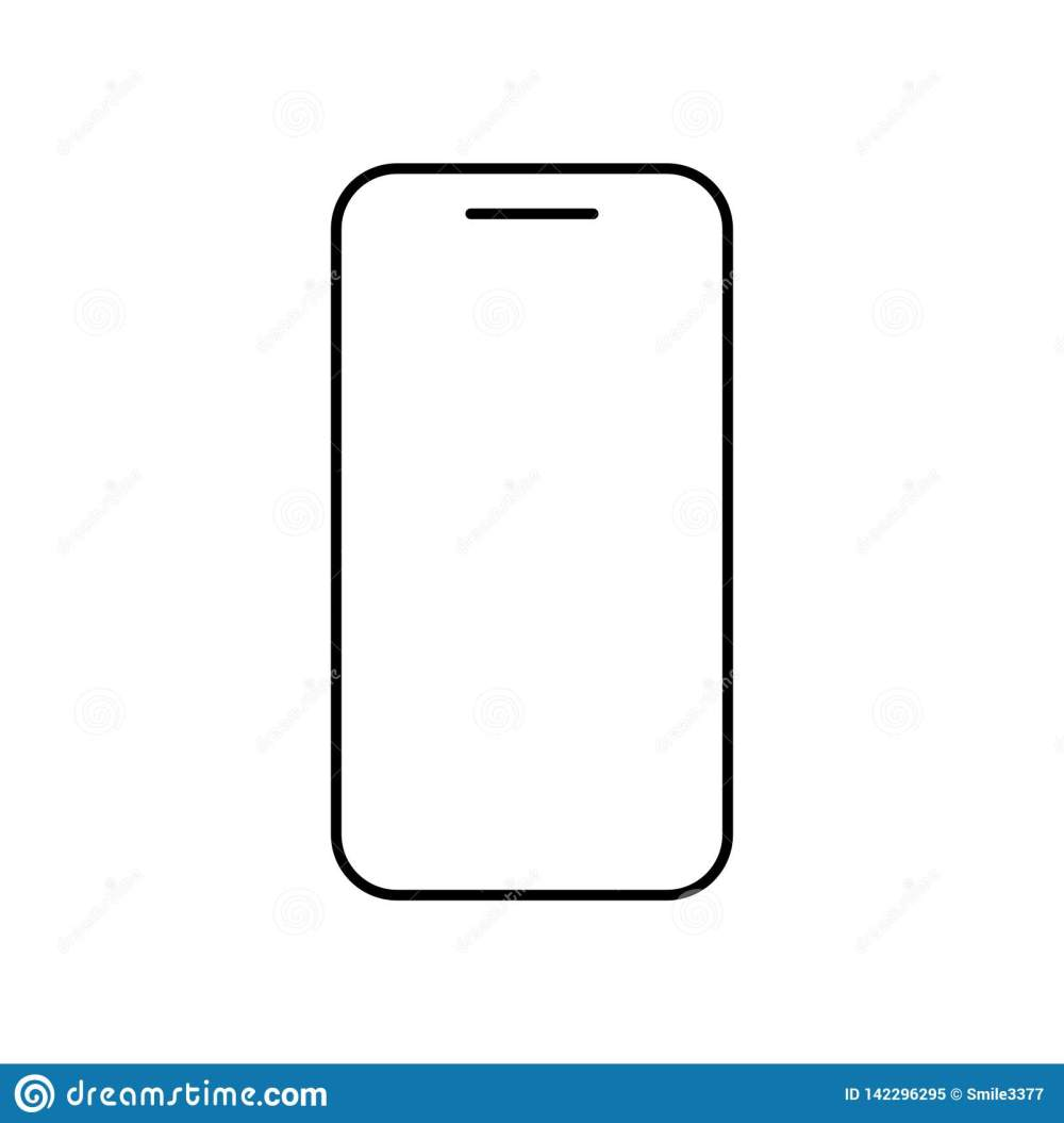 medium resolution of icon phone outline line in black color