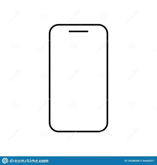small resolution of icon phone outline line in black color