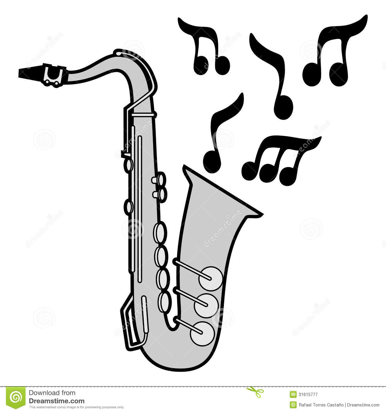 Icon Saxophone Stock Vector Illustration Of Sound