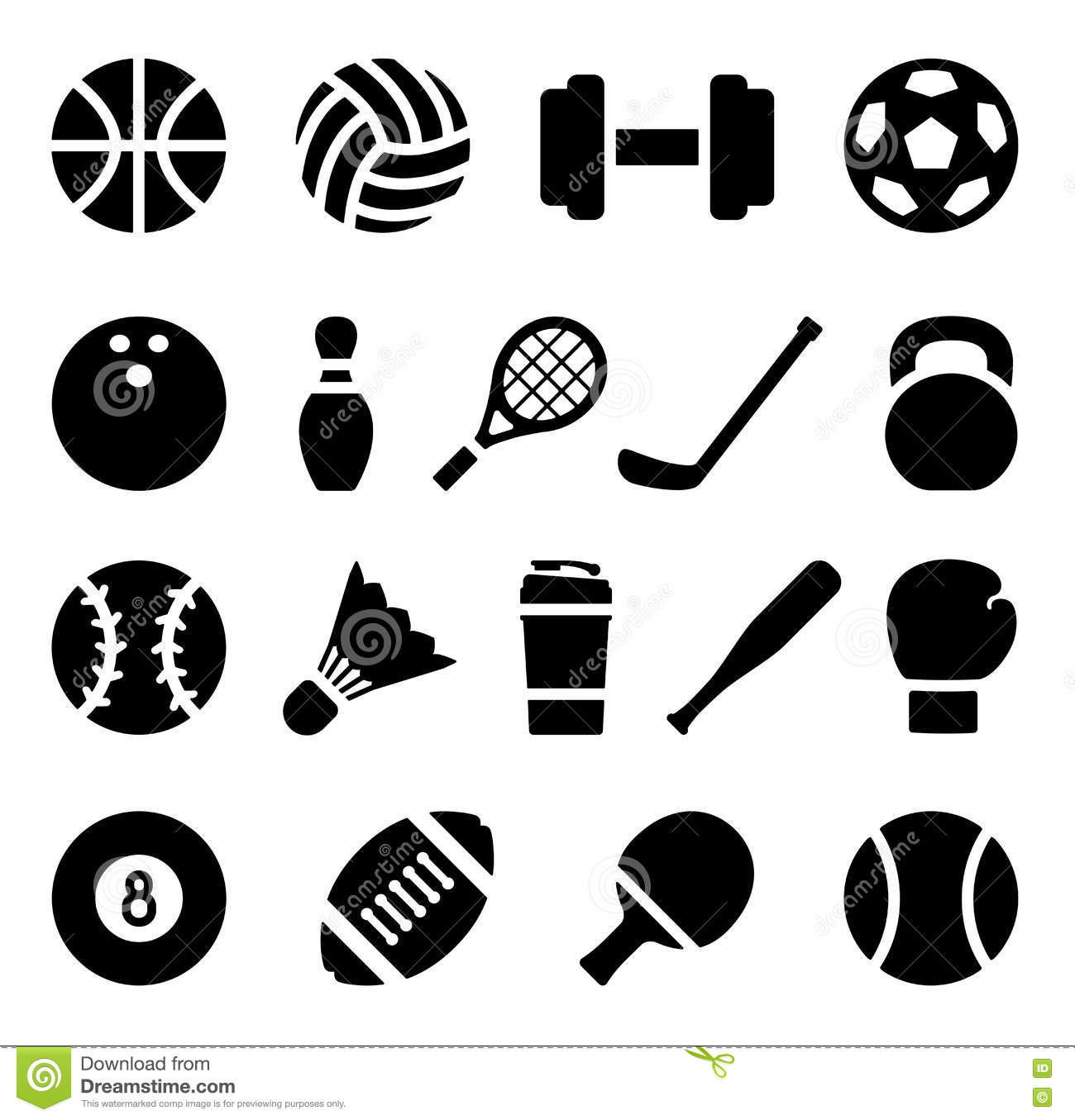 icon set of black