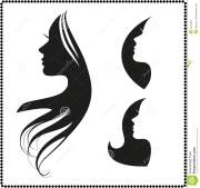 icon silhouette of girl