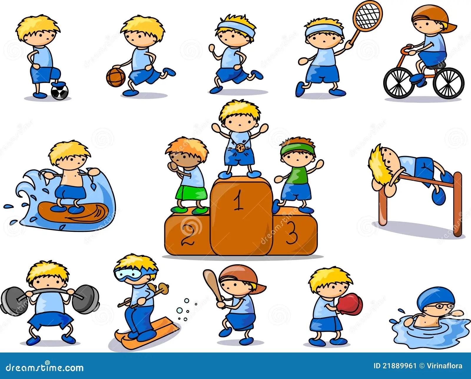 Icona Di Sport Del Fumetto Illustrazione Vettoriale