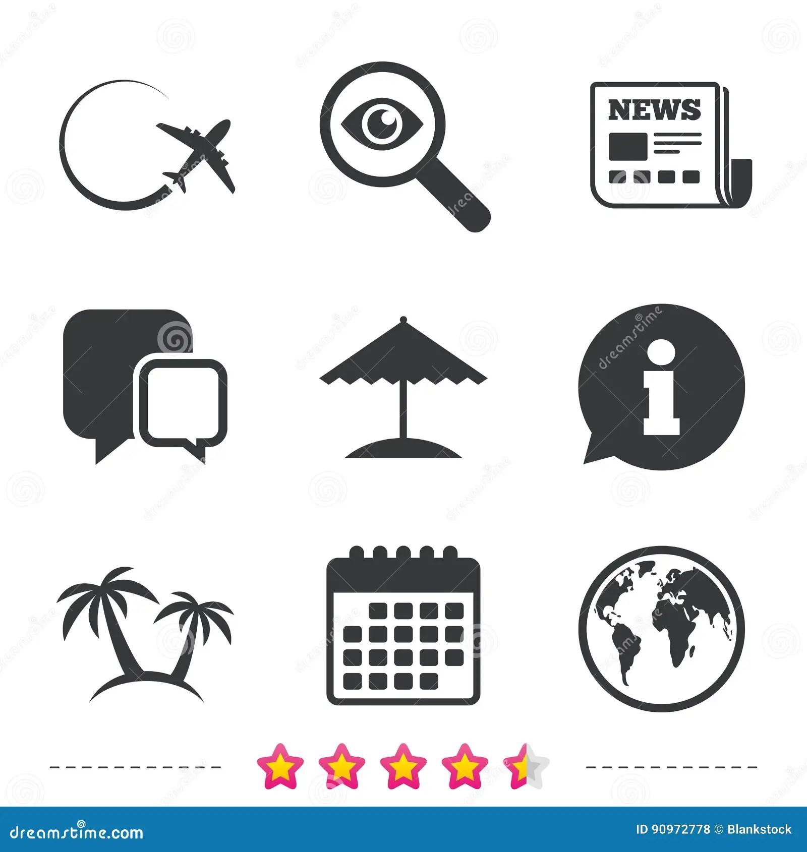 Icona Di Viaggio Di Viaggio Aeroplano Simboli Del Globo