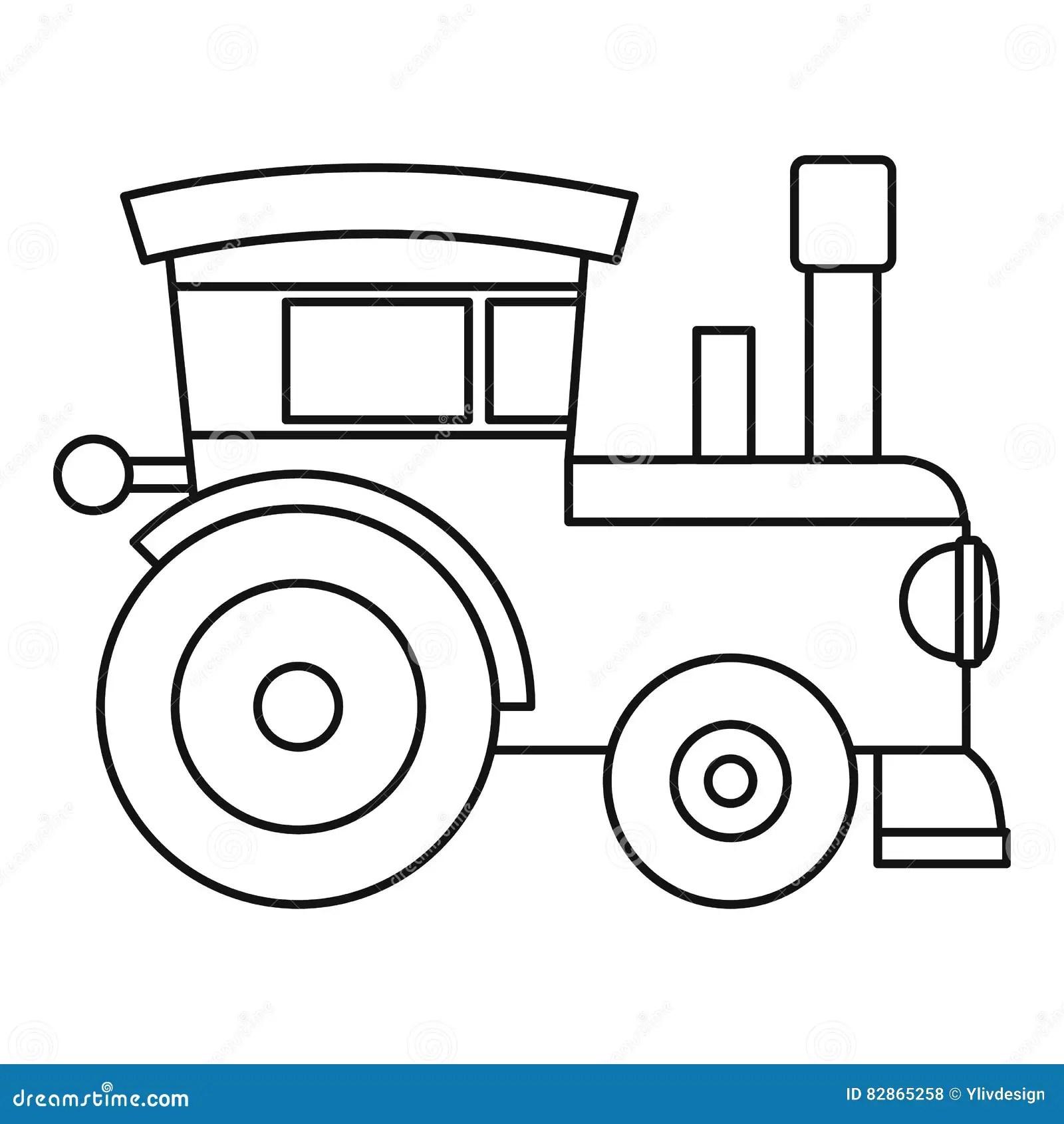 Icona Locomotiva Del Giocattolo Del Treno Stile Del
