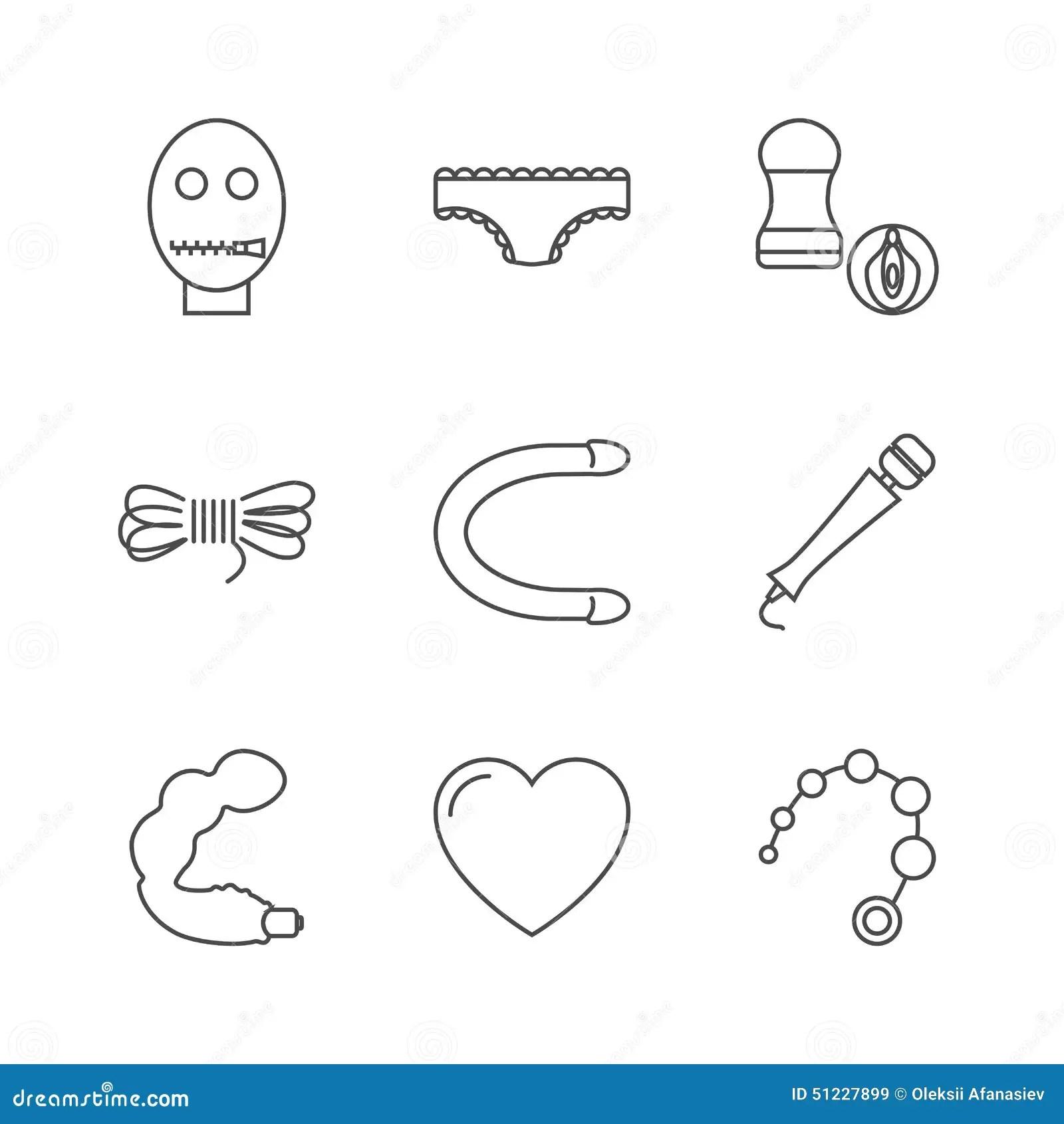 Icone del sexshop illustrazione vettoriale. Illustrazione