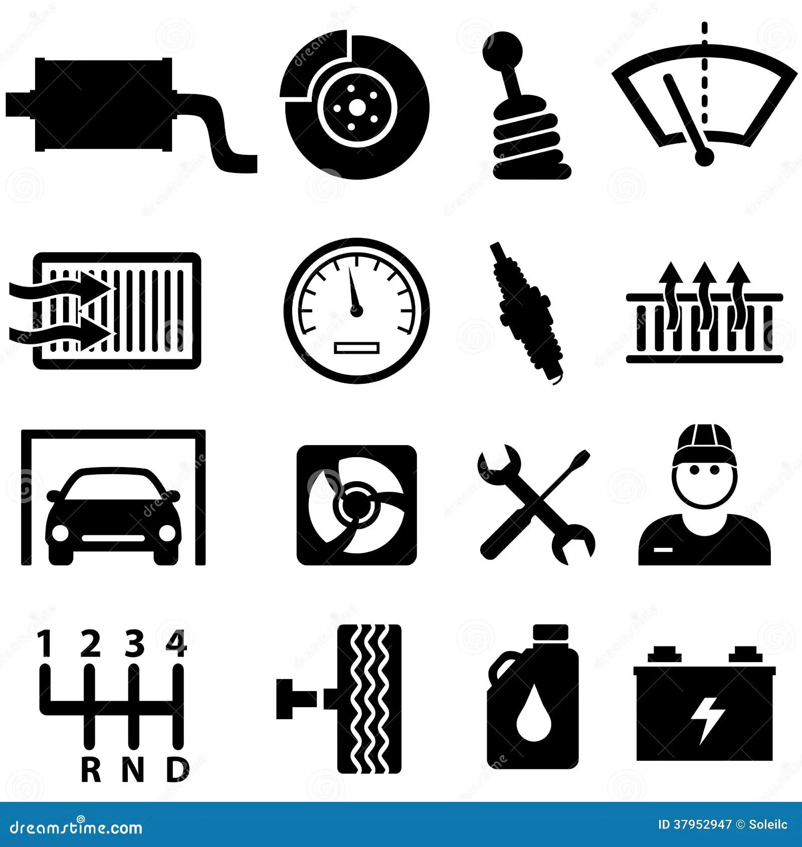 Icone Di Riparazione E Del Meccanico Dell Automobile