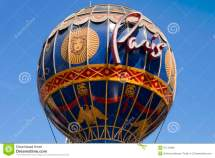 Iconic Paris Casino' Montgolfier Hot Air Balloon