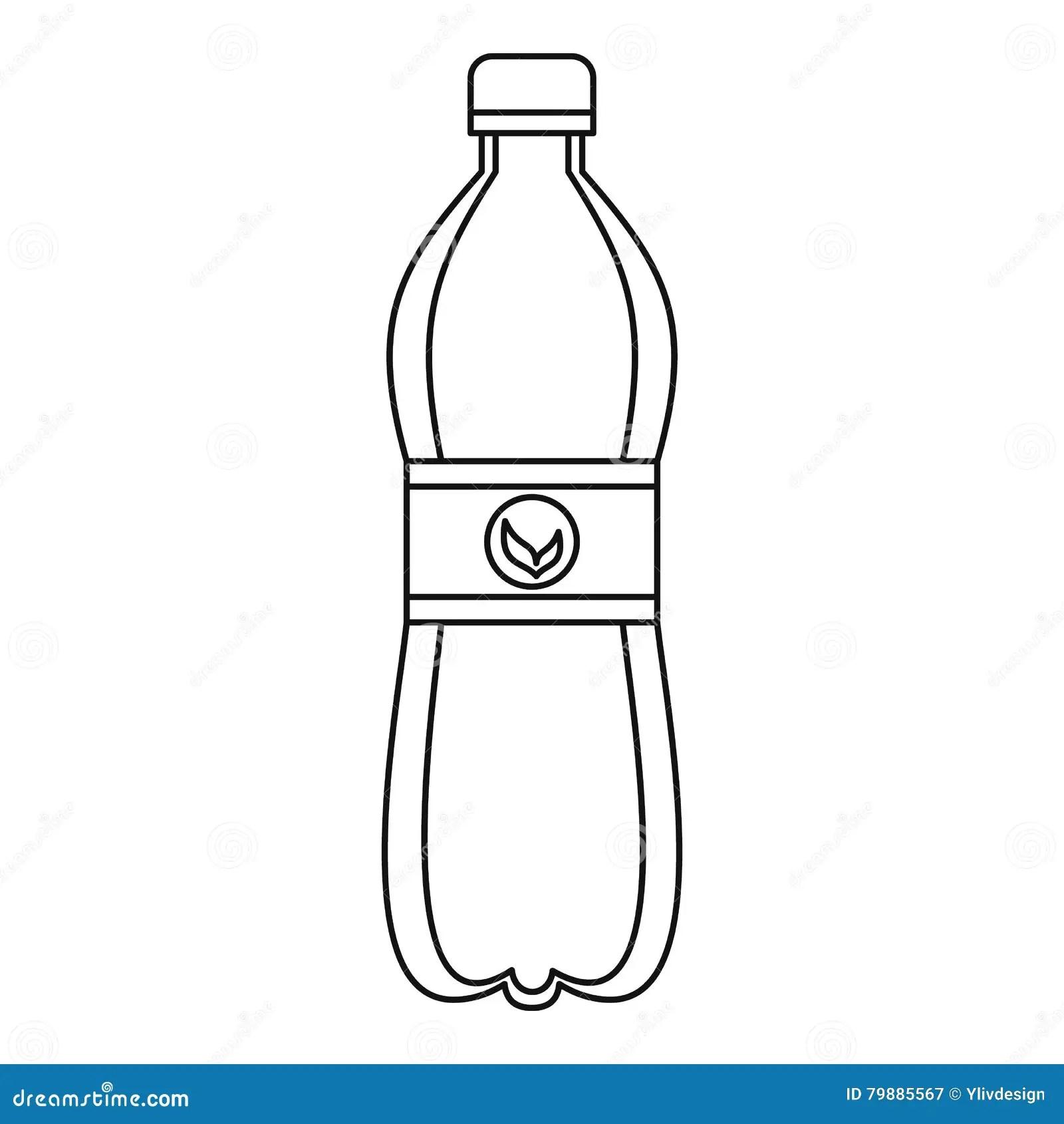 Icono Plastico De La Botella Estilo Del Esquema