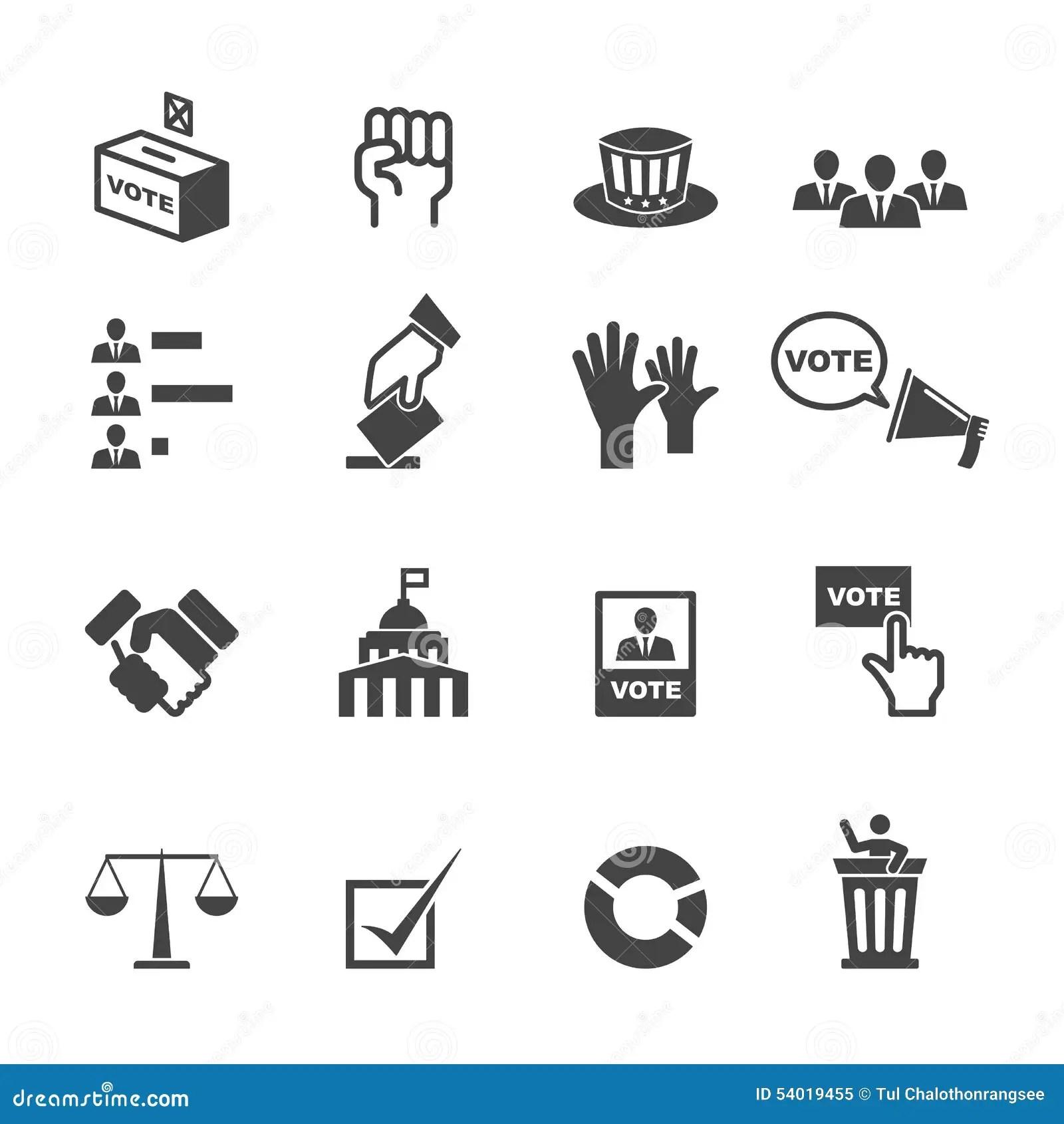 Iconos De La Democracia Ilustracion Del Vector