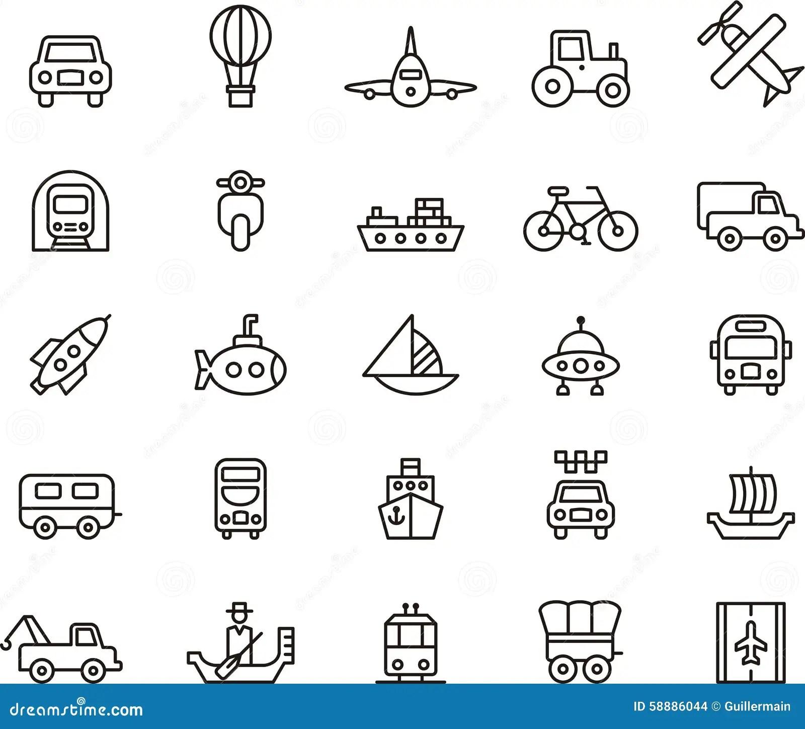 Iconos Del Transporte Ilustracion Del Vector Ilustracion