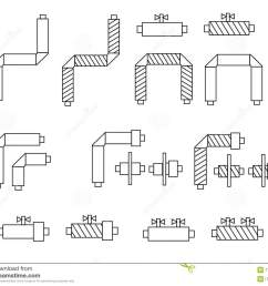 icons of pipes in polyurethane foam insulation and schematic diagram components for websites posters banners [ 1300 x 1113 Pixel ]
