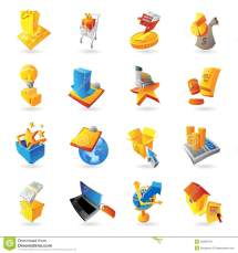 Icons Retail Commerce Royalty Free Stock