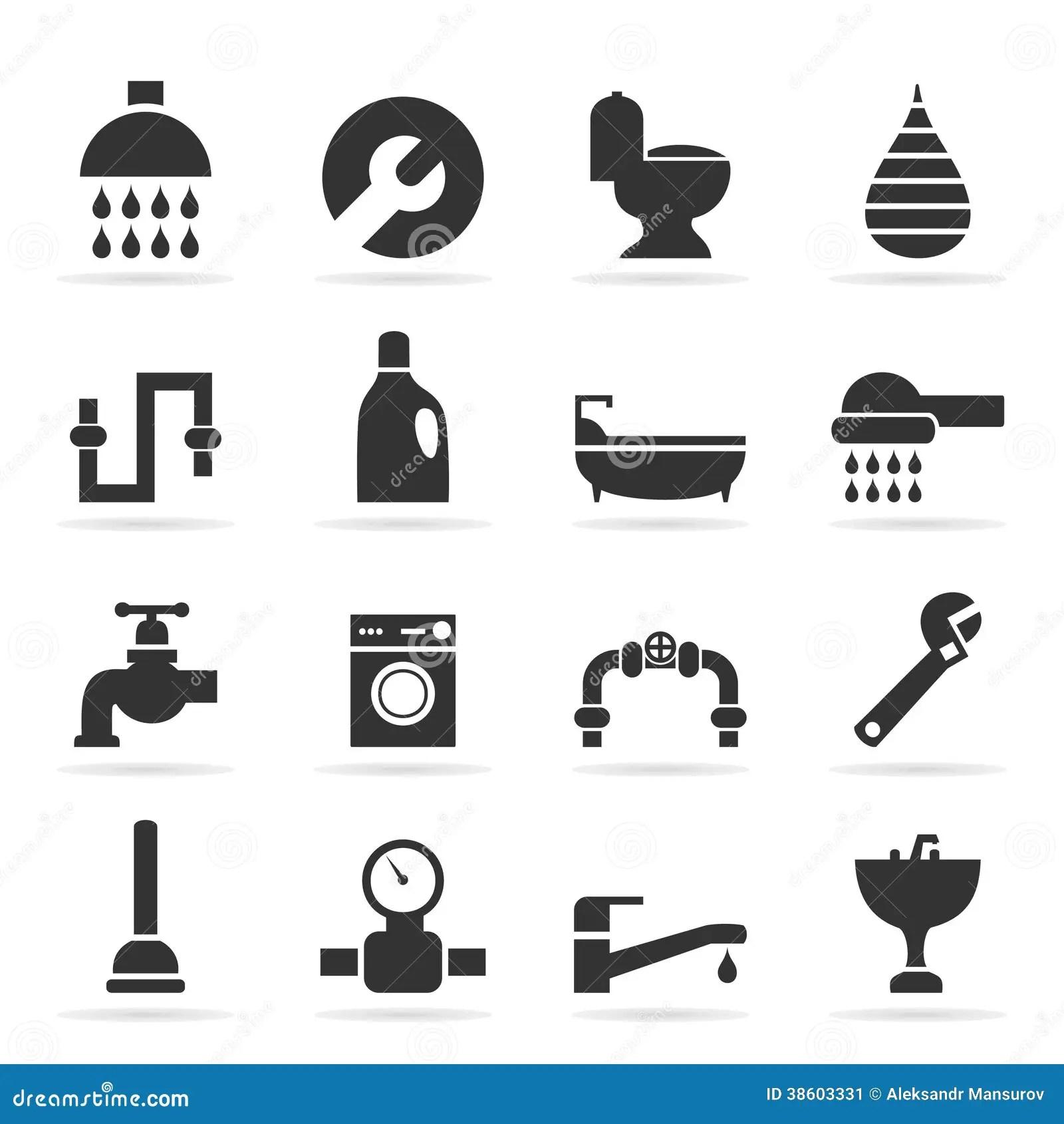 Icons Sanitary Technicians2 Stock Vector