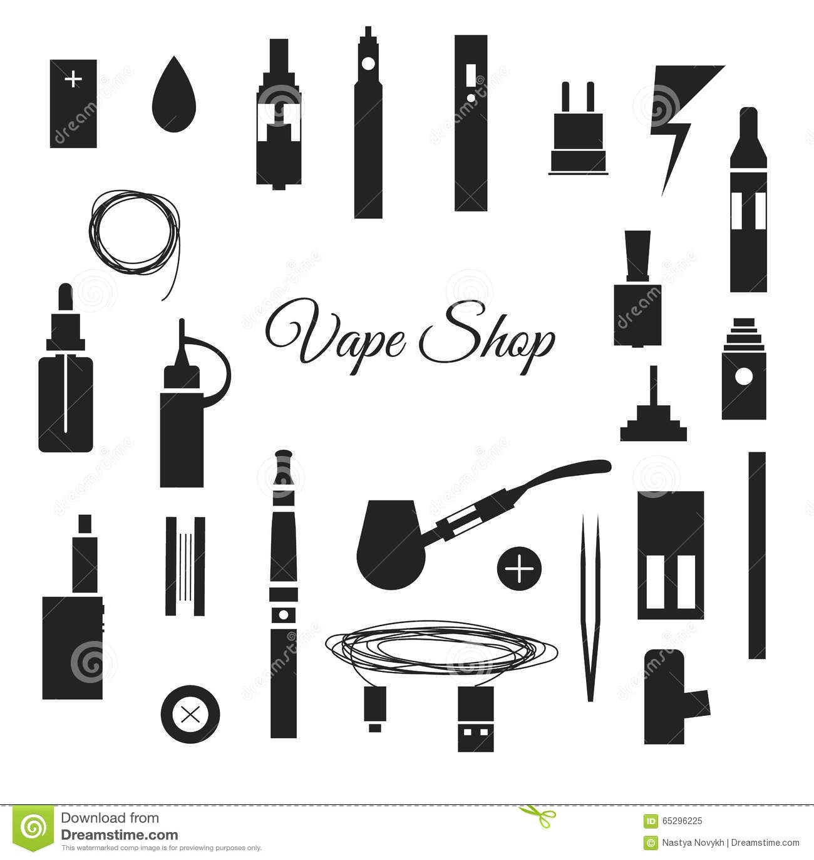 Icons Vape Stock Illustration