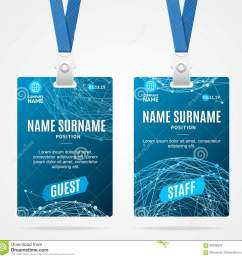 id card template plastic badge with blue abstract geometric sphere vector illustration [ 1300 x 1295 Pixel ]
