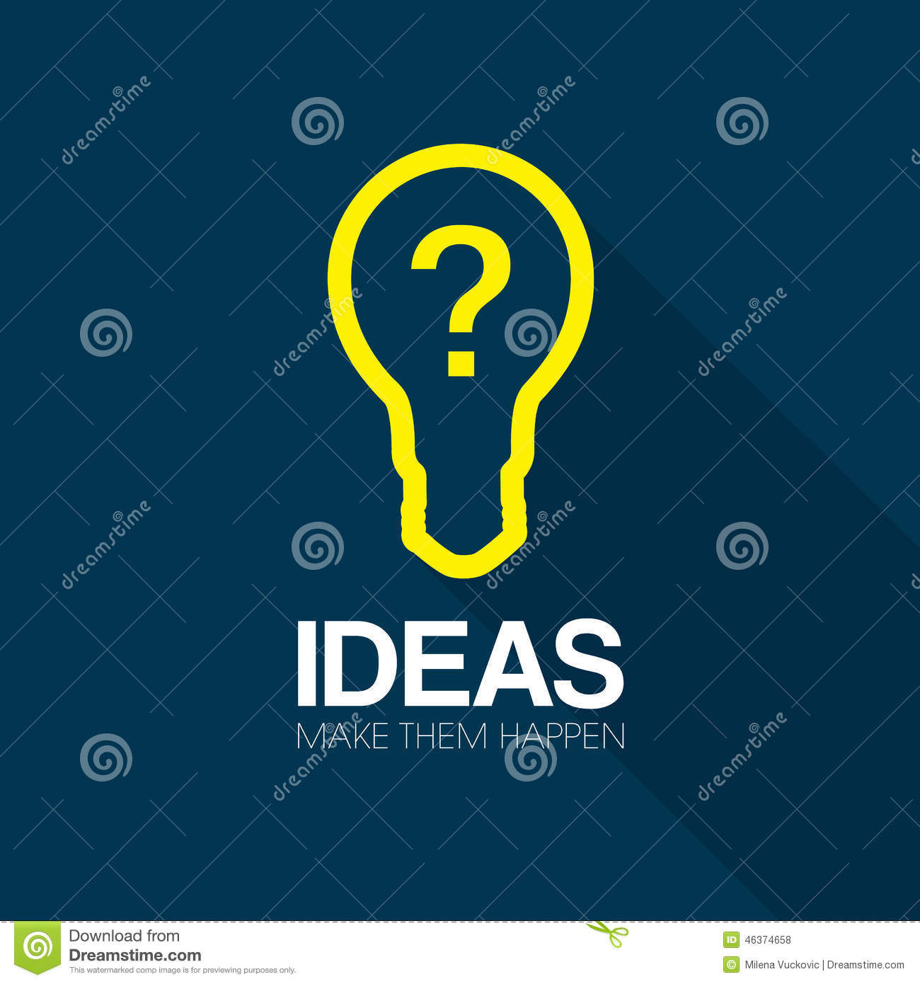 ideas and inspiration stock