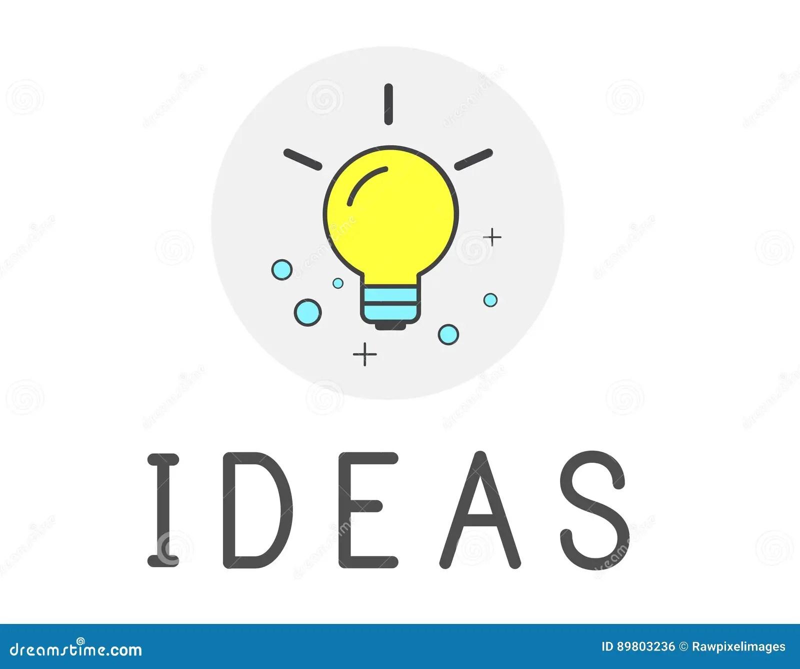 Ideas Lightbulb Innovation Thinking Icon Concept Stock