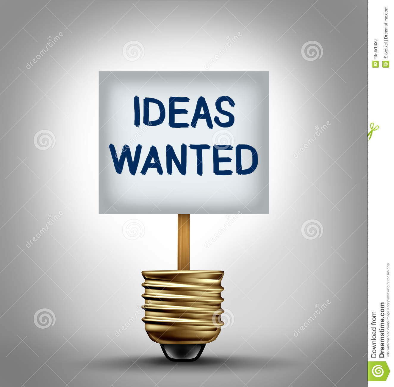 Ideas Wanted stock illustration Illustration of needed