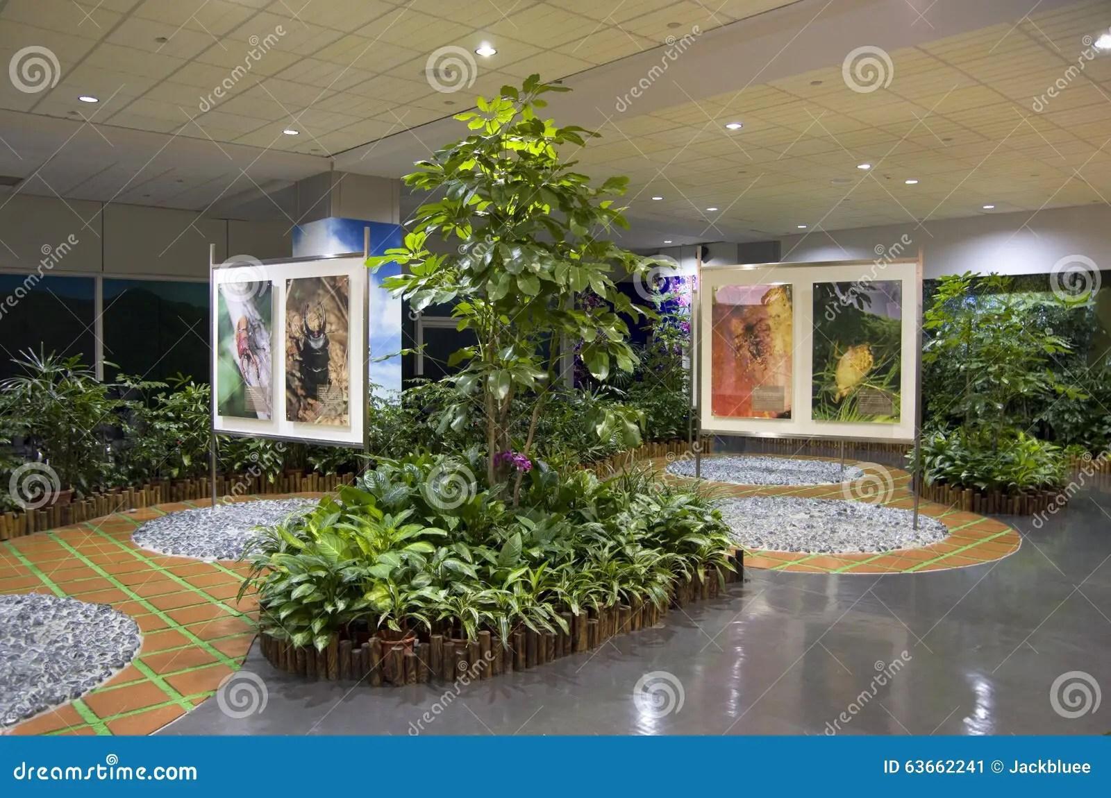 Idee Di Interior Design  Giardino Della Sala Di Attesa Dellaeroporto Fotografia Editoriale