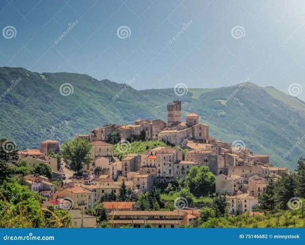 Idyllic Apennine Mountain Village Castel Del Monte L