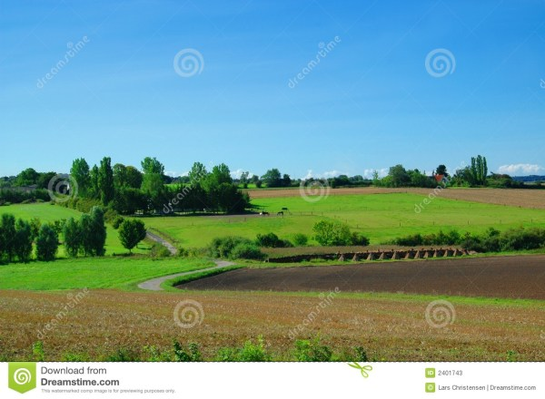 Idyllic Farm Landscape Stock Of Agricultural - 2401743