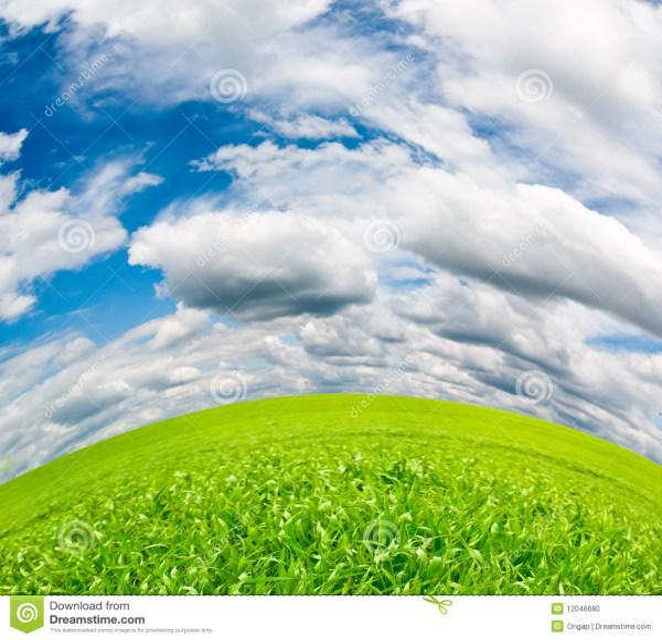 idyllic landscape stock