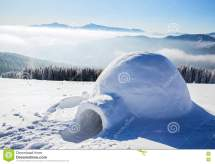 Igloo Mountain Top Royalty-free Stock