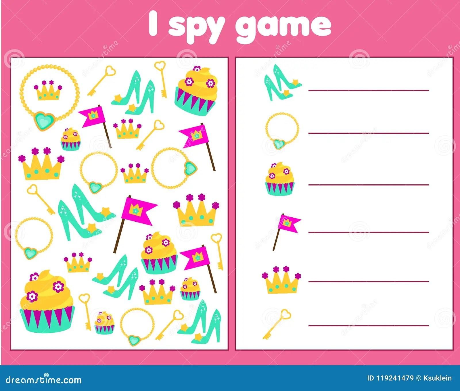 Ik Spioneer Spel Voor Peuters Vind En Tel Voorwerpen