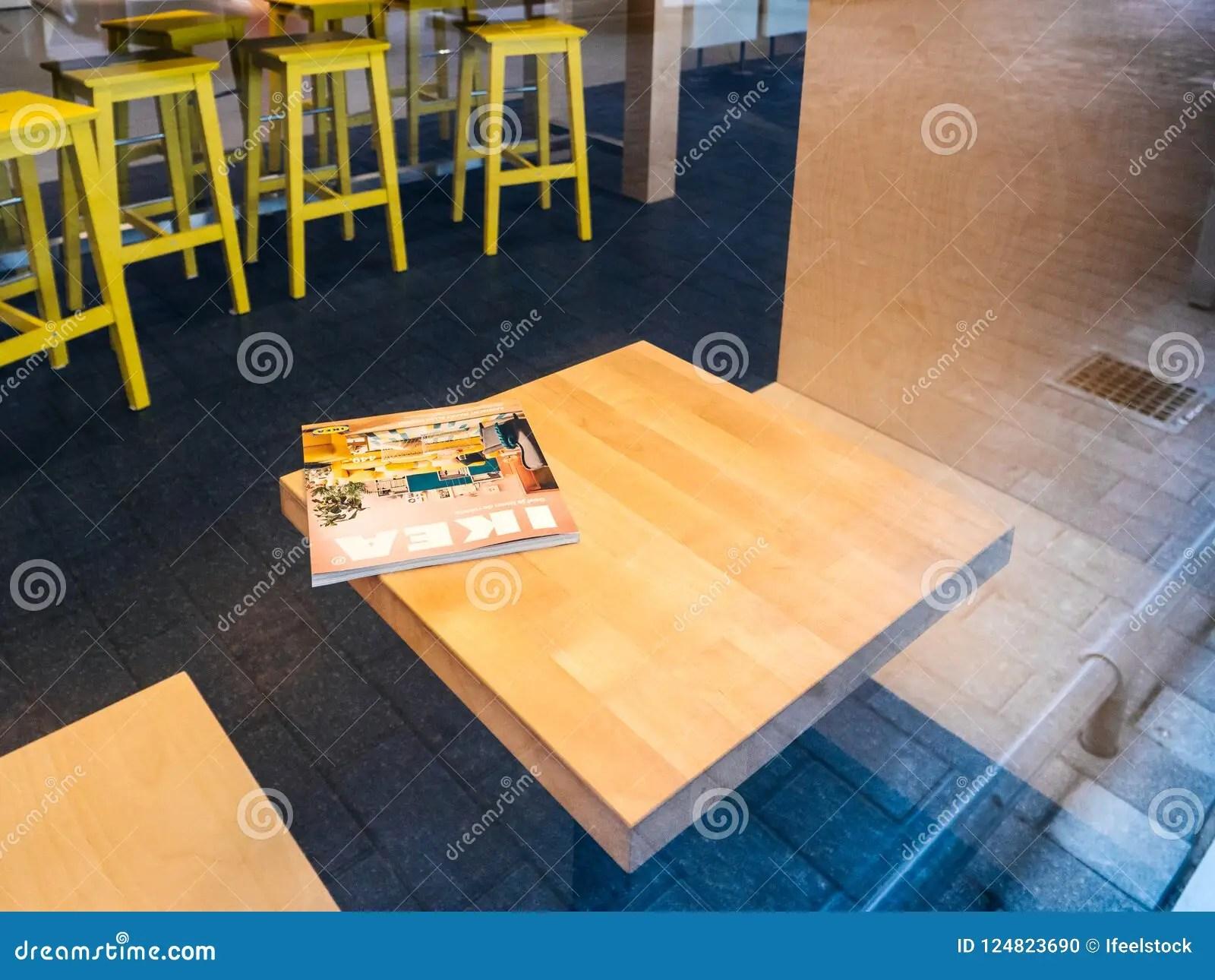 Ikea Catalogue On Cafe Table Inside Furniture Supermarket